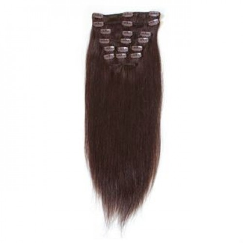 Clip On Extensions - #2 Mørkebrun, 40 cm