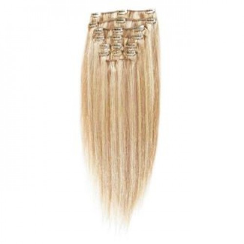 Clip On Extensions - #27/613 Mellemblond Mix, 40 cm