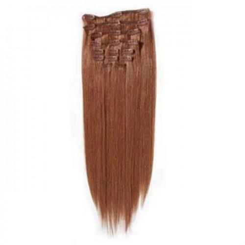 #33 Rødbrun, 50 cm - Clip On