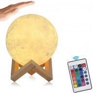 3D LED Månelampe - XXL 20 cm