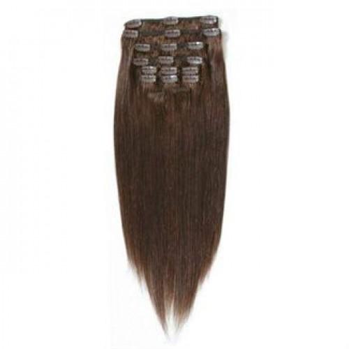 Clip On Extensions - #4 Chokoladebrun, 40 cm