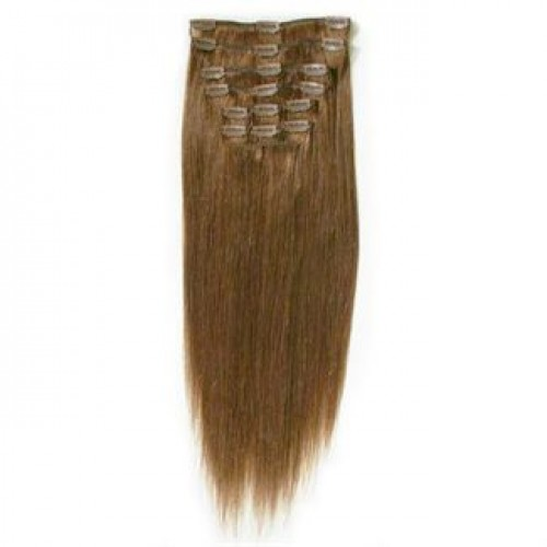 Clip On Extensions - #6 Brun, 40 cm