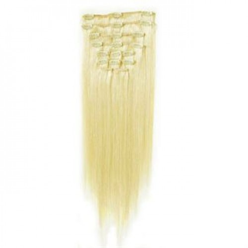 Clip On Extensions - #60 Platinblond, 40 cm