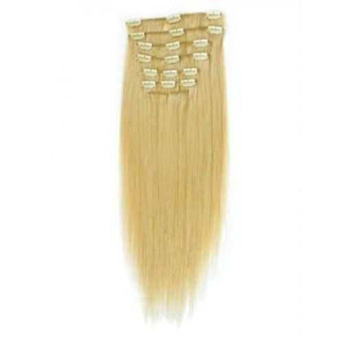 #613 Blond, 60 cm Fiber Clip on