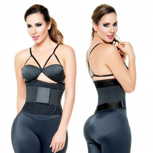 Ava® Velcro Waist Trainer Belt, sort