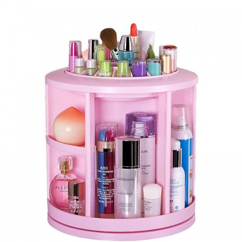 Monoko® 360º Rotating Cosmetic Organizer XL, Pink