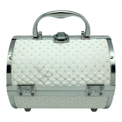 AVERY® Smykkeskrin / Beauty boks i aluminium, hvid