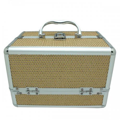 AVERY® Smykkeskrin / Beauty boks i aluminium, guld