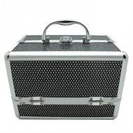 AVERY® Smykkeskrin / Makeup boks i aluminium, sort