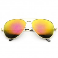 Aviator Solbriller Yellow