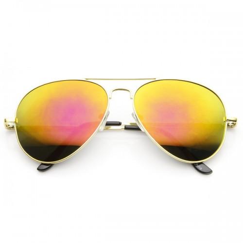 Aviator Solbriller Yellow