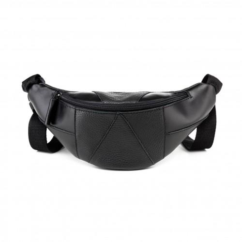 Banana Bæltetaske i læder, sort
