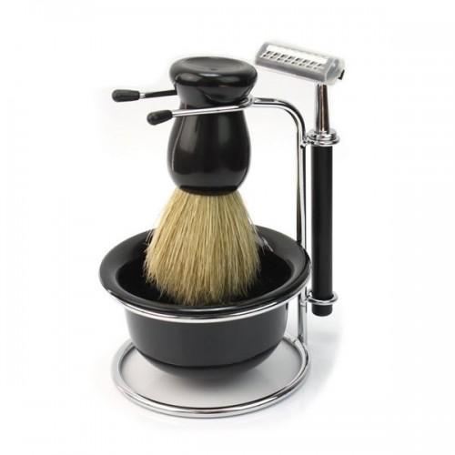 Barbersæt til mænd m/ Shaver, Børste og skål