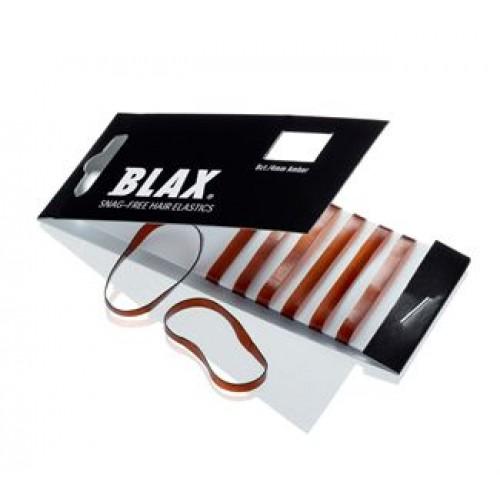 BLAX Hårelastikker Brun / Amber 8 stk