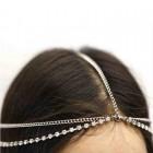 Bohemian Head Chain hovedsmykke i sølv og diamanter