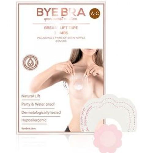 ByeBra® Brysttape med brystvorteskjulere af satin - Skål: A, B, C
