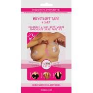 ByeBra® Brysttape med brystvorteskjulere af silke - Skål: A, B, C