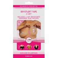 ByeBra® Brysttape med brystvorteskjulere af silke - Skål: D, E, F