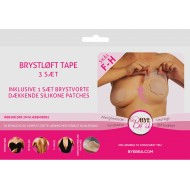Bryst Tape Silicone Bye Bra push-up tape Str. F & H