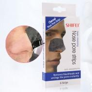Charcoal næsestrips / nosestrips med dybderensende effekt - 6 stk - Fjerner hudorme og urenheder