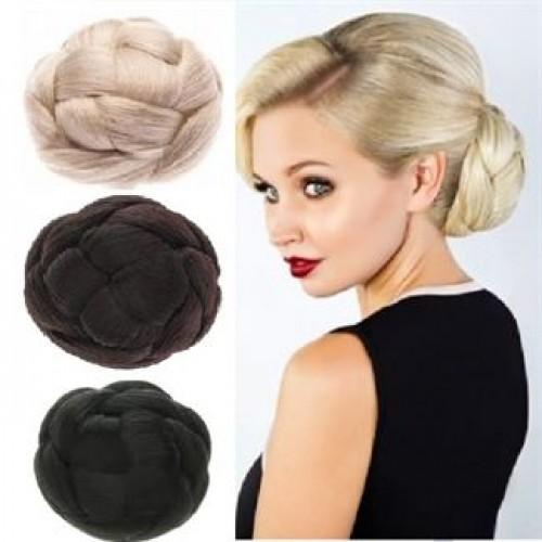 Chignon Hair Bun med hår flere farver