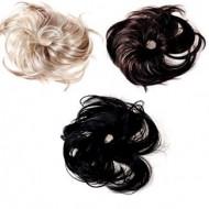 Chignon Ponytail holder med syntetisk hår flere farver