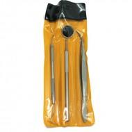 Dental Hygiejne tandrensning 3-sæt - 1 Mundspejl, 1x Curette tandrenser, 1 scraper