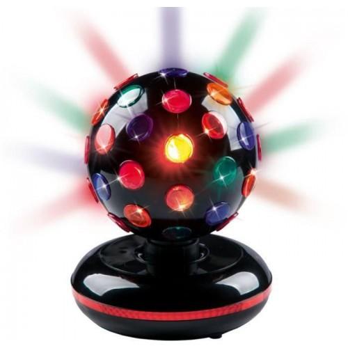 Diskokugle med kulørt roterende LED lys & musik, Brightly Light str. XL