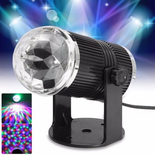 Diskokugle med roterende LED lys (Mini Stage Light)