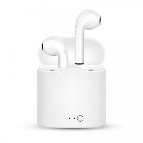 Earbuds Trådløse Bluetooth høretelefoner inkl. ladestation - i7S