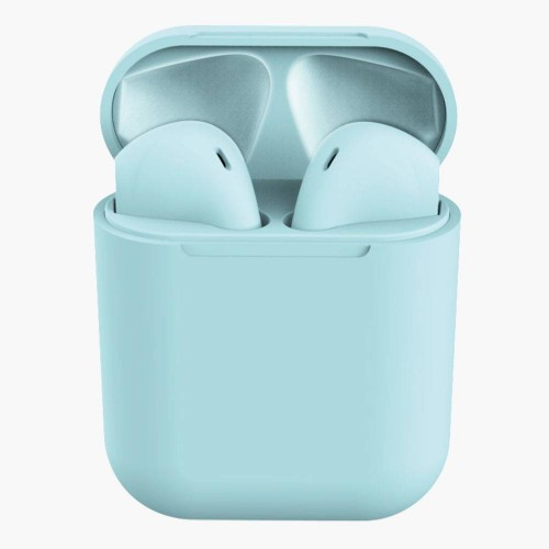 Earpods Trådløse inpod I12 Bluetooth Headphones / Høretelefoner m/ blue tooth - Light Blue