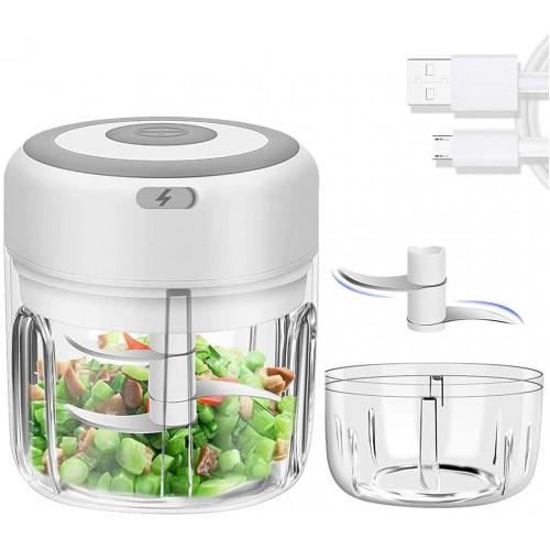 Elektrisk Grøntsagshakker 250ml - Hvid