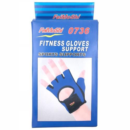 Fitness træningshandsker, pink str. L
