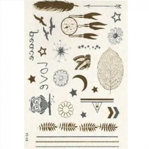 Flash Metallic Tattoos No. 11