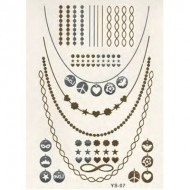 Flash Metallic Tattoos No. 12