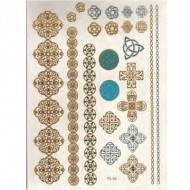 Flash Metallic Tattoos No. 15