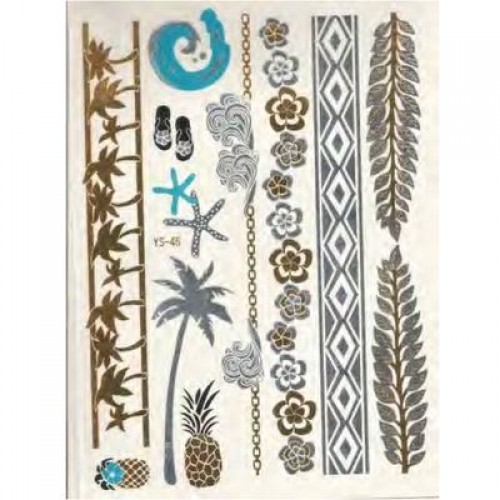 Flash Metallic Tattoos No. 17
