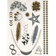 Flash Metallic Tattoos No. 20