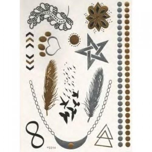 Flash Metallic Tattoos No. 20