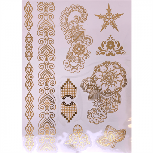 Flash Metallic Tattoos No. 5