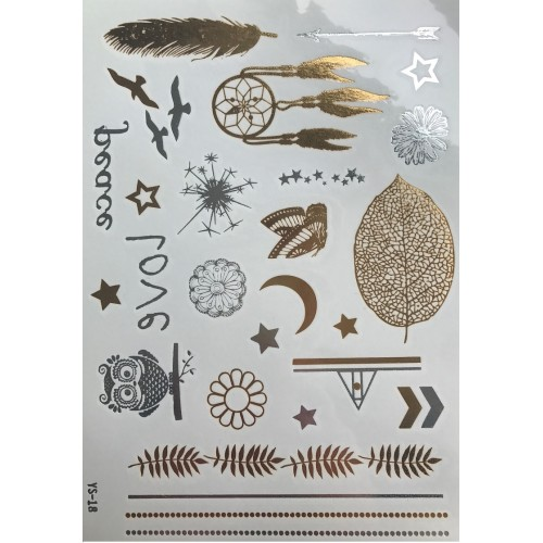 Flash Metallic Tattoos No. 8