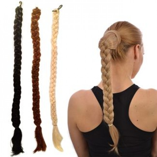Flettet hestehale extension (braided ponytail) 75 cm