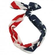 Flexi Hårbånd med ståltråd - Stars & Stripes