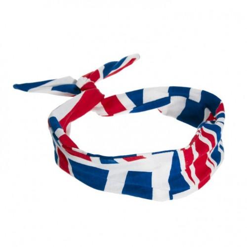 Flexi Hårbånd med ståltråd - Union Jack
