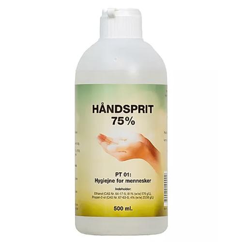 Flydende håndsprit / hånddesinfektion 75% Dankemi – 500 ml