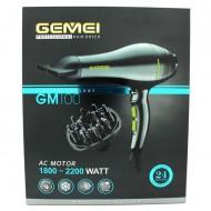 Gemei PRO føntørrer med diffuser GM-100
