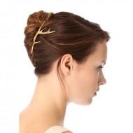 Gevir hårklemme i guld