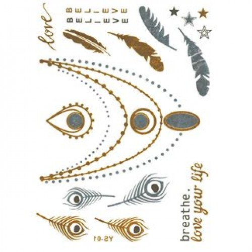 Flash Metallic Tattoos No. 3