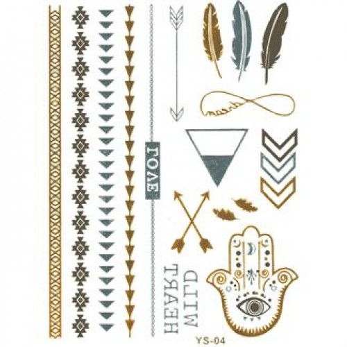 Flash Metallic Tattoos No. 6