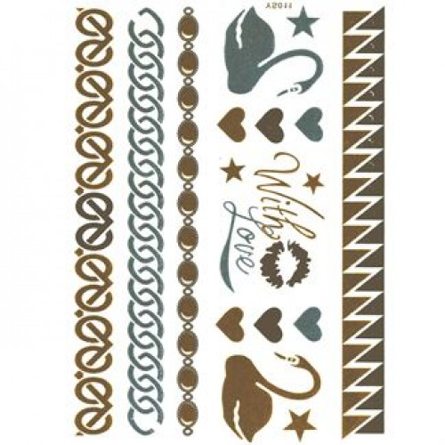 Flash Metallic Tattoos No. 7
